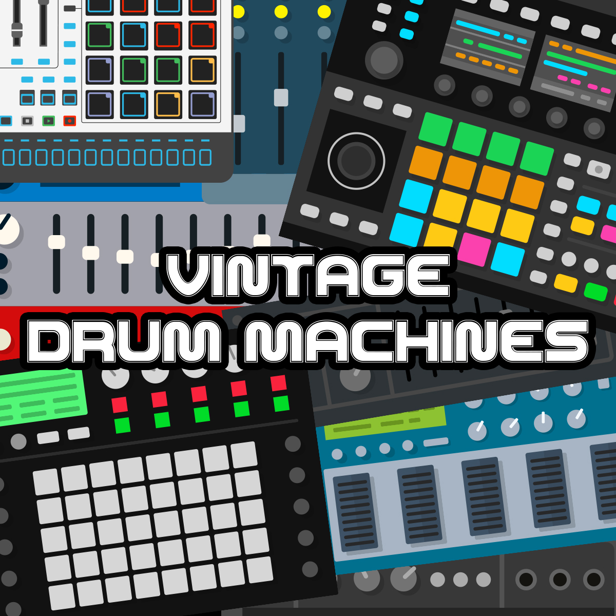 Vintage Drum Machines - Music Software Training - Jason Timothy
